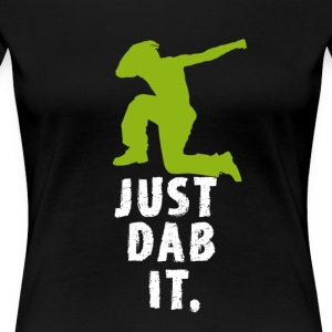 dab green man dabbing touchdown Football fun cool - Women's Premium T-Shirt
