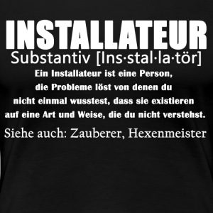 Installateur Definition Shirt - Frauen Premium T-Shirt