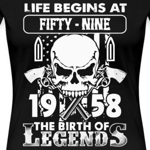 1958 födelse Legends skjorta - Premium-T-shirt dam
