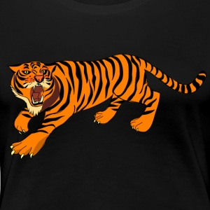Tiger with claws and roar on - Women's Premium T-Shirt