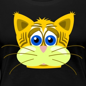 Cat sad with whiskers - Women's Premium T-Shirt