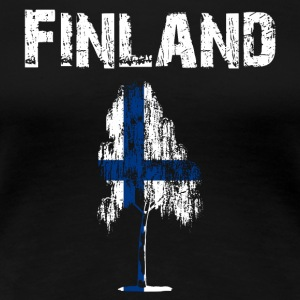 Nation-Design Finland Birch - Frauen Premium T-Shirt