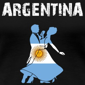 Nation-Design Argentina Tango - Premium-T-shirt dam