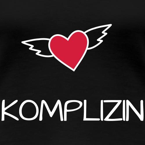 Komplizin der Braut JGA Design fliegendes Herz - Frauen Premium T-Shirt
