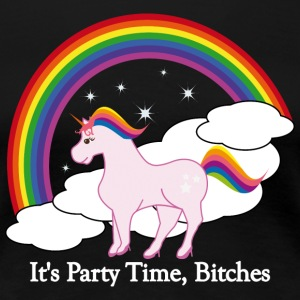 Party Time Unicorn - Premium-T-shirt dam