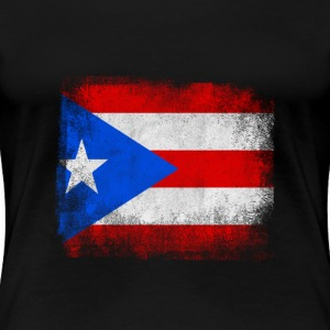 Puerto Rico State Flag Distressed Vintage Shirt - Women's Premium T-Shirt