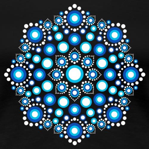 Mandala Dot Art Punkte Ornament Yoga Meditation - Frauen Premium T-Shirt
