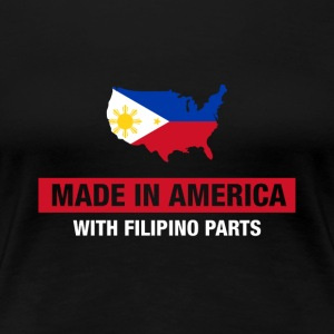 Made In America Med Filipino Deler Filippinene - Premium T-skjorte for kvinner