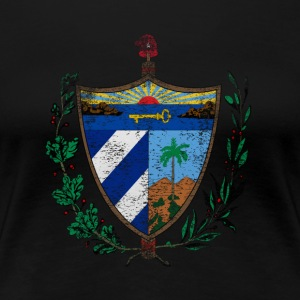 Cuban Coat of Arms Cuba Symbol - Women's Premium T-Shirt