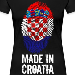 Made in Croatia / Made in Kroatia Hrvatska - Premium T-skjorte for kvinner