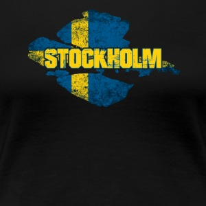 Stockholm - Swedish Flag Sweden Design - Women's Premium T-Shirt