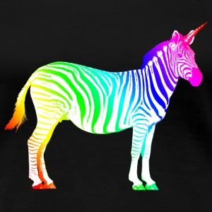 Zebra Unicorn Unicorn Rainbow Magic Magie - T-shirt Premium Femme