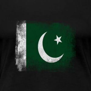 Pakistan-Flagge Proud Pakistan Vintage Distressed S - Frauen Premium T-Shirt