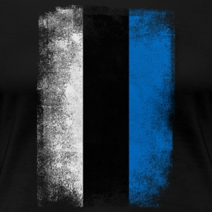 Estland-Flagge Proud Estonian Vintage Distressed - Frauen Premium T-Shirt