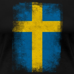 Schweden-Flagge Proud Swedish Vintage Distressed Hemd - Frauen Premium T-Shirt