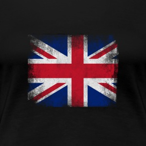 Storbritannia Flag Proud British Vintage Distress - Premium T-skjorte for kvinner