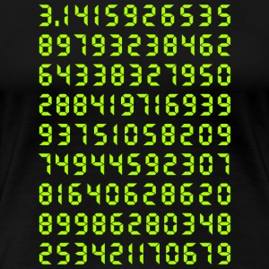 Pi mathematics Kreiszahl Symbol Genie Big Bang Geek - Women's Premium T-Shirt
