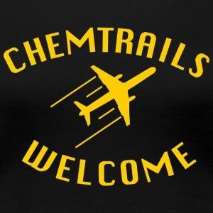 chemtrails Welcome - Premium-T-shirt dam