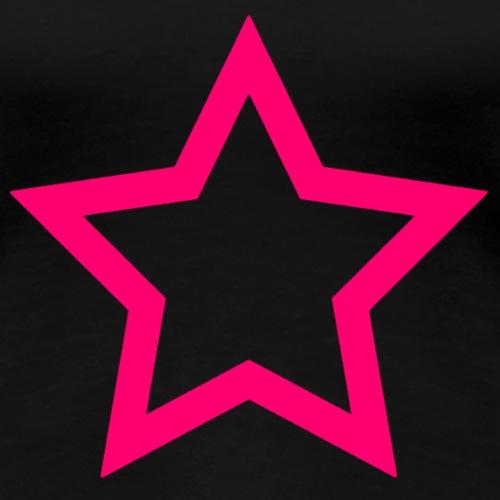 rosa Stern - Frauen Premium T-Shirt
