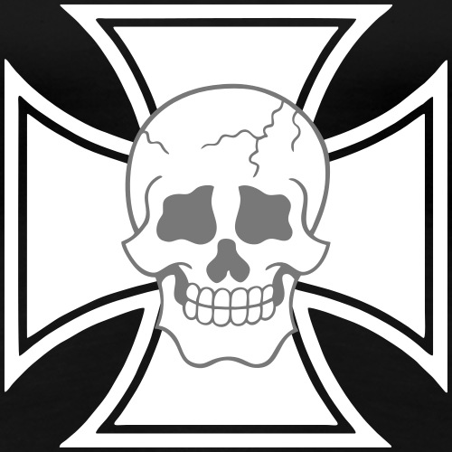 Eisernes Kreuz SKULL Totenkopf - Frauen Premium T-Shirt
