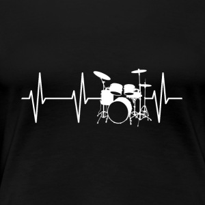 Drum Heartbeat - Women's Premium T-Shirt
