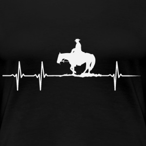 Heartbeat of a horse lover - Women's Premium T-Shirt