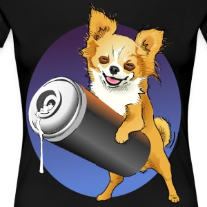 Chihuahua One Love Graffiti - Premium-T-shirt dam