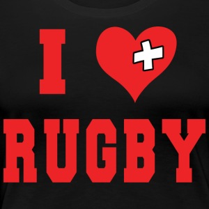 I Love Rugby Football - Dame premium T-shirt