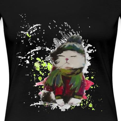 Katze Kunterbunt Motiv - Frauen Premium T-Shirt