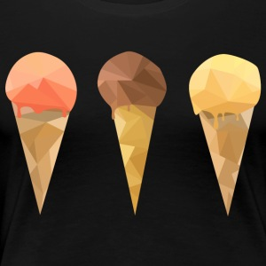 Låg Poly Icecream - Premium-T-shirt dam