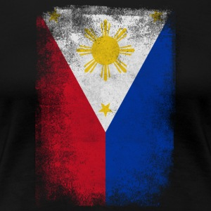 Filippinene Filipino Flag Stolt Vintage Look - Premium T-skjorte for kvinner