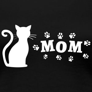 Cat picture with Mom lettering - Women's Premium T-Shirt