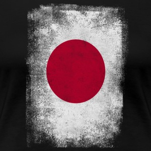 Japan Flag Stolt japansk Vintage Look - Premium T-skjorte for kvinner