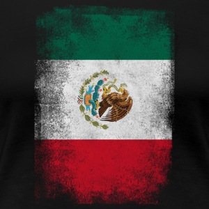 Mexiko-Flagge Proud Mexican Vintage Distressed - Frauen Premium T-Shirt