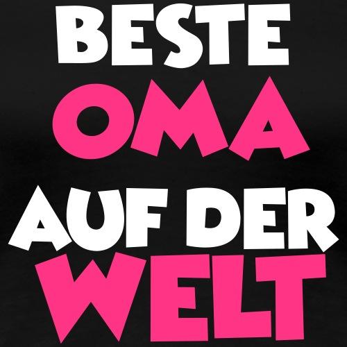 Beste Oma auf der Welt - Frauen Premium T-Shirt