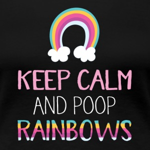 poop Rainbows - Premium-T-shirt dam