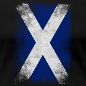 Skottland flagg Proud Scottish Vintage Look - Premium T-skjorte for kvinner