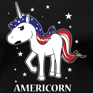 Americorn! Unicorn! Unicorn! Trendy Cute! USA! - Premium T-skjorte for kvinner