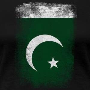 Pakistan-Flagge Proud Pakistan Vintage Distressed Sh - Frauen Premium T-Shirt