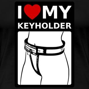 I love my Keyholder - Frauen Premium T-Shirt