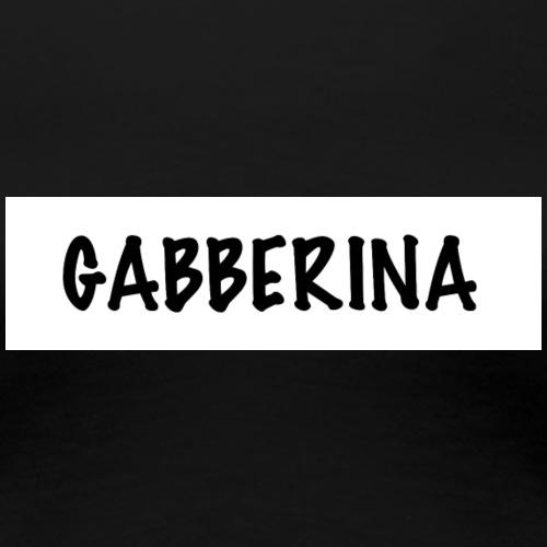 GABBERINA T-Shirt (white Design) - Frauen Premium T-Shirt