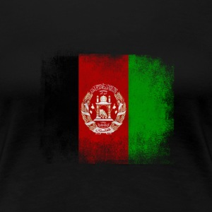 Afghanistan Flag Proud Afghan Vintage Distressed - Women's Premium T-Shirt