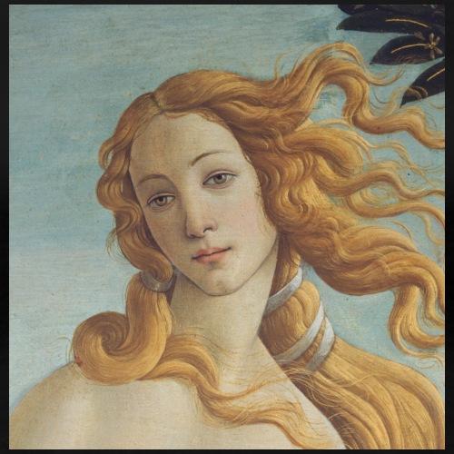 Die Geburt der Venus von Botticelli (Ausschnitt) - Frauen Premium T-Shirt