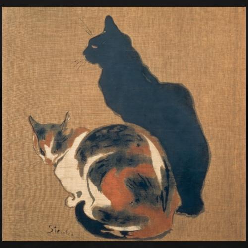Zwei Katzen (von Théophile-Alexandre Steinlen) - Frauen Premium T-Shirt