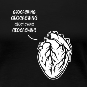 Geocaching heart - Women's Premium T-Shirt