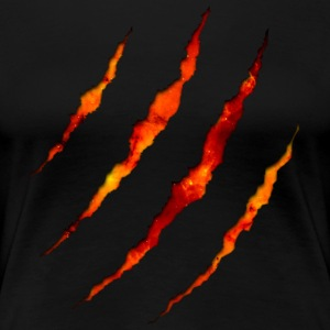 Claw Lava Black Edition #GROAHHH - Women's Premium T-Shirt