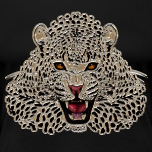 Cheetah at roar in mosaic - Women's Premium T-Shirt
