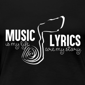 Music Lyrics - Music Passion - Women's Premium T-Shirt