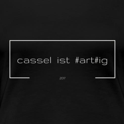cassel ist #art#ig hellgrau vs schwarz - Frauen Premium T-Shirt