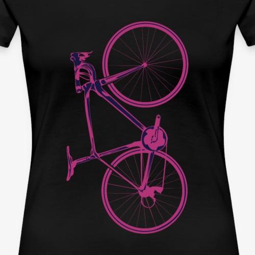 pinkes Fahrrad Shirt - Frauen Premium T-Shirt